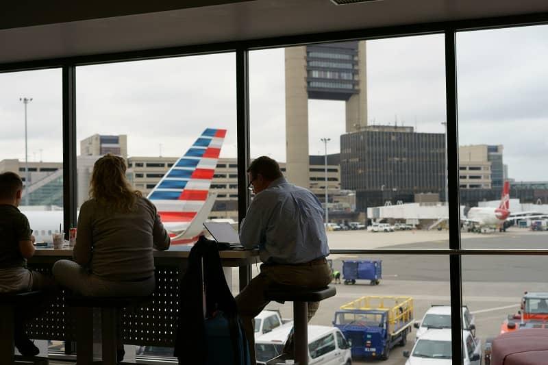 aeropuerto en la sala de espera