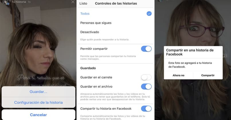 allows you to share stories on Facebook