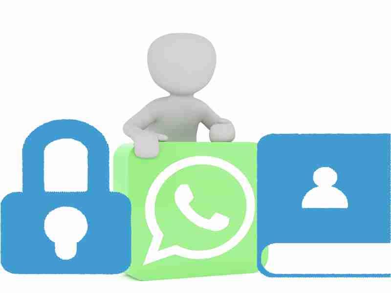 logo de whatsapp contactos y bloqueado