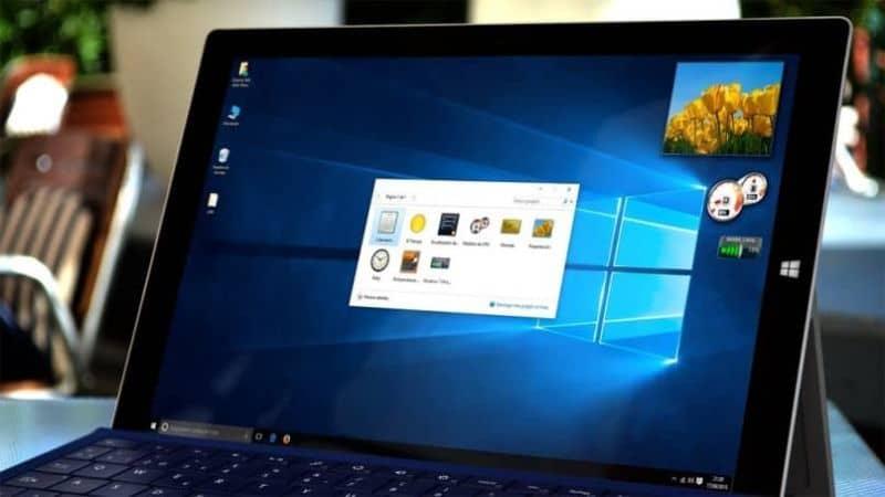 personalizar gadget windows 10