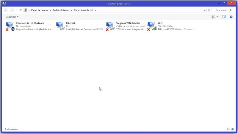 desactivar conexion red windows7