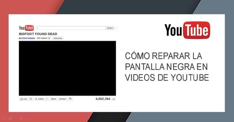 fixes the black YouTube screen