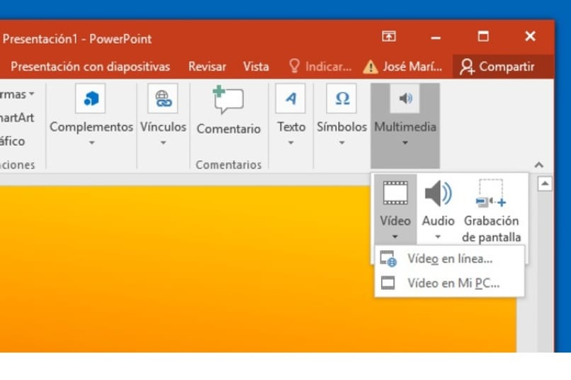 play a video using powerpoint
