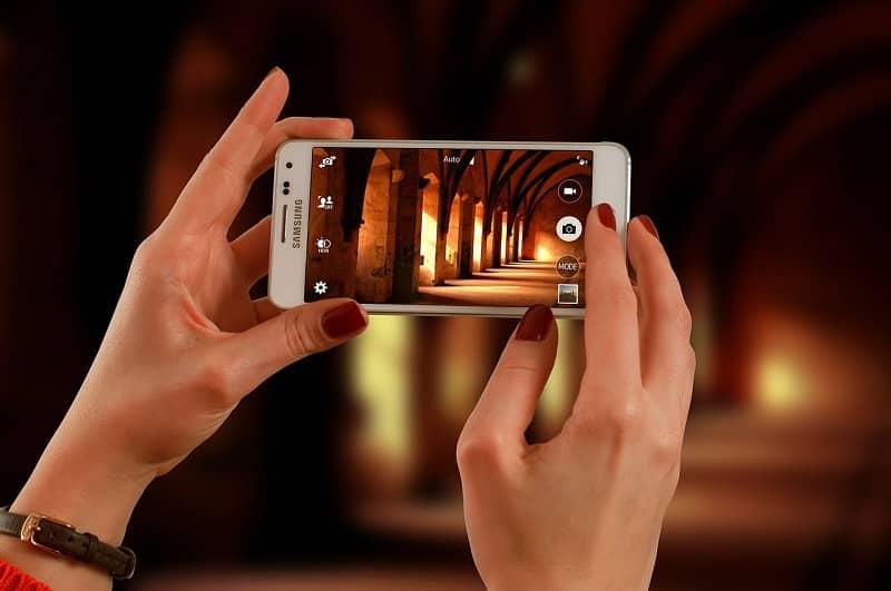 manos grabar pantalla samsung