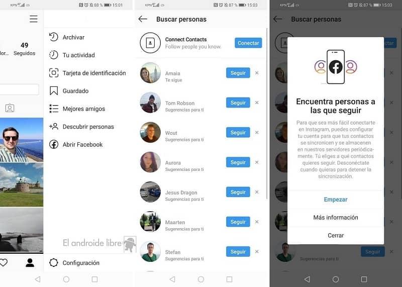 buscar personas para seguir en instagram