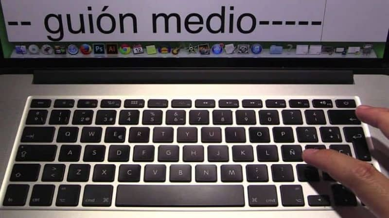 hacer guion medio en el teclado