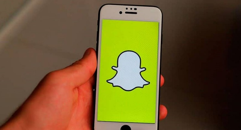 Iphone phone with Snapchat logo