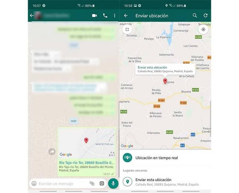 compartir ubicacion por whatsapp desde el movil