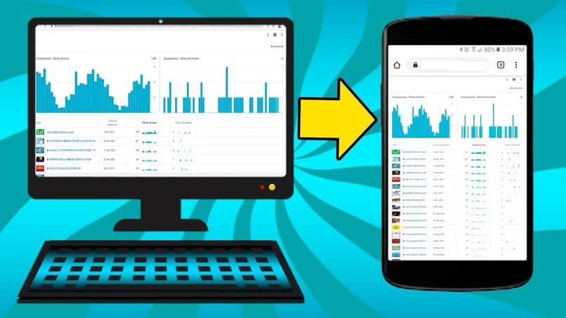 mobile and desktop version of Chrome browser