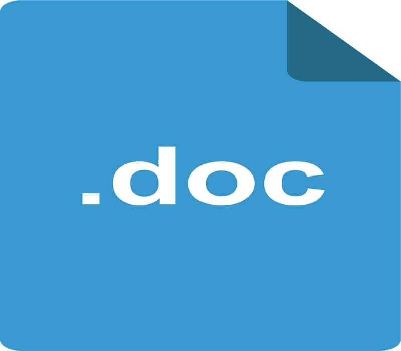 extension de documento word