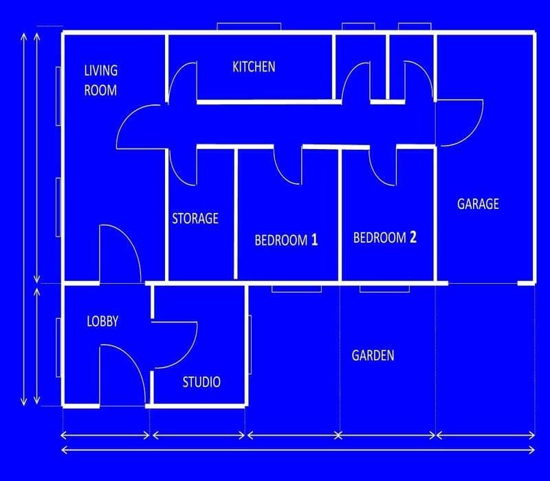 plano de planta de una casa